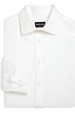 Armani Men Business - Button-Front Cotton Dress Shirt