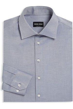 Armani Button-Front Cotton Dress Shirt