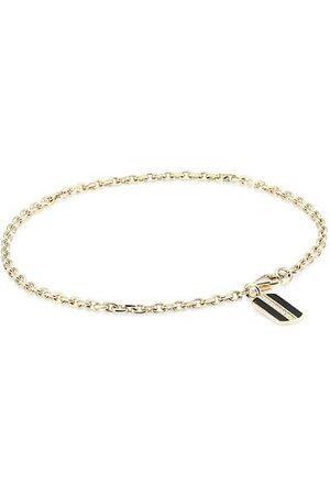 Sydney Evan 14K Yellow & Pavé Diamond Rectangle Pendant Bracelet