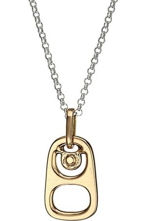 King Baby Studio Men Necklaces - Pop Top Goldplated Sterling Silver Pendant Necklace