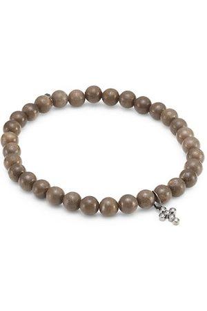 Sydney Evan 14K White Gold, Diamond & Wooden Bead Bracelets