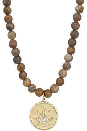 Sydney Evan 14K Yellow Gold Diamond Mary Jane Coin Pendant Necklace