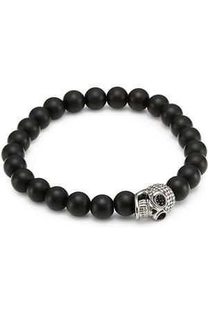 Sydney Evan Skull 14K White Gold & Diamond Pavé Bead Bracelet