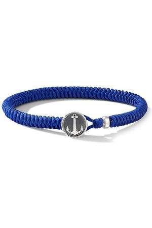 David Yurman Maritime Sterling Silver & Blue Nylon Anchor Station Bracelet