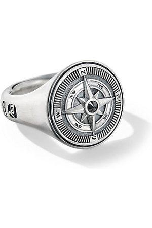 David Yurman Men Rings - Maritime Sterling Silver & Black Diamond Compass Signet Ring