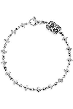 King Baby Studio New Classics Sterling Small Cross Chain Bracelet
