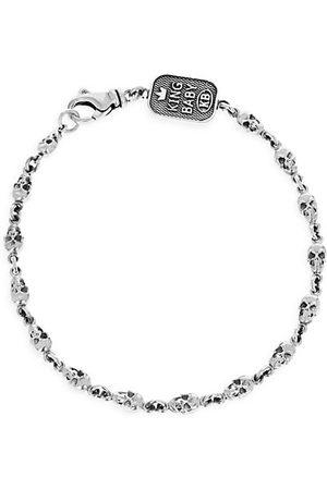 King Baby Studio Men Bracelets - New Classics Skull Chainlink Sterling Bracelet