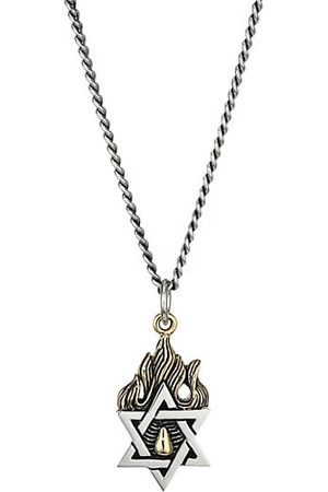 King Baby Studio New Classics Star Of David Goldtone Sterling Necklace