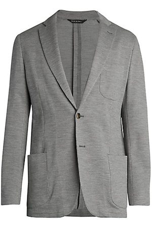 Saks Fifth Avenue COLLECTION Mini Houndstooth Knit Sportcoat