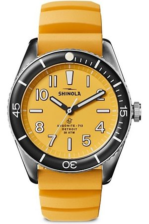 SHINOLA The Duck Stainless Steel Rubber-Strap Watch