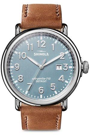 SHINOLA The Runwell Three Hand Date Stainless Steel & Leather-Strap Watch