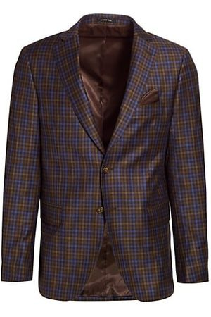 Saks Fifth Avenue COLLECTION Pop Plaid Wool Sportcoat