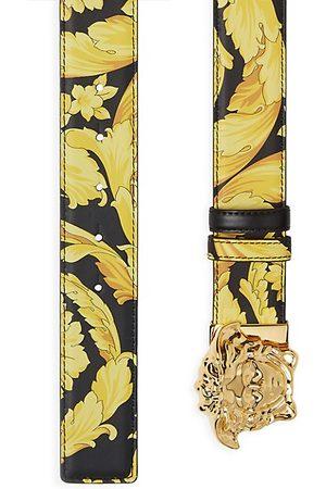 VERSACE Medusa Baroque-Print Leather Belt