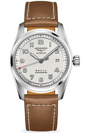 Longines Spirit Automatic Stainless Steel Leather-Strap Watch