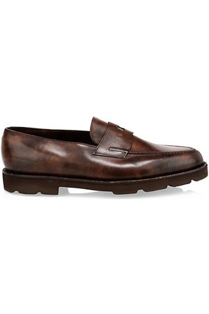 JOHN LOBB Lopez Chunky Leather Penny Loafers