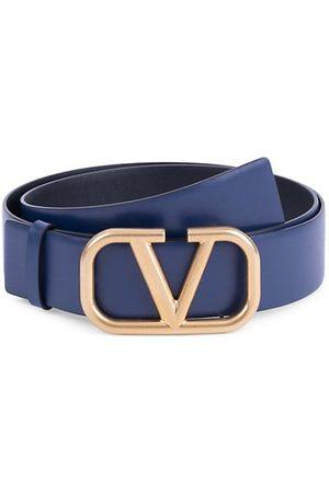 adidas Men Belts - Garavani V Logo Leather Belt