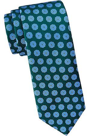 Charvet Large Scale Medallion Silk Tie