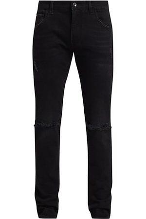 Dolce & Gabbana Slash Knee Jeans