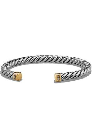 David Yurman The Cable 18K Yellow Gold & Sterling Cuff Bracelet