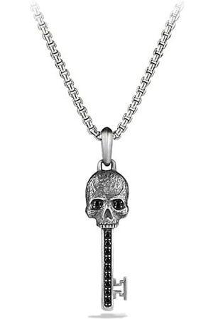 David Yurman Skull Black Diamonds and Sterling Skull Pendant