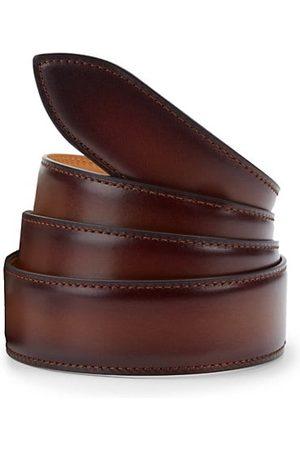 CORTHAY Patina Leather Belt