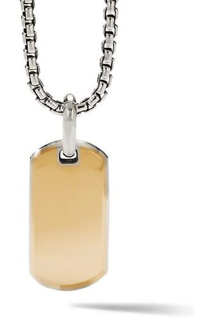 David Yurman The Streamline Collection Sterling Silver & 18K Yellow Gold Enhancer Pendant
