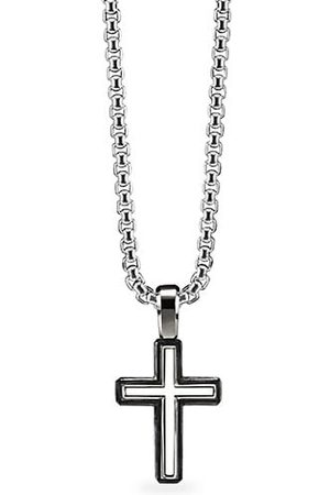David Yurman Roman Cross Sterling Silver Enhancer Pendant