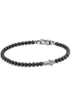 David Yurman Spiritual Beads Onyx Cross Station Bracelet