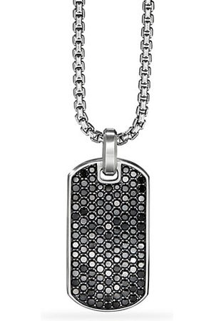 David Yurman Pavé Streamline Black Diamond Dog Tag