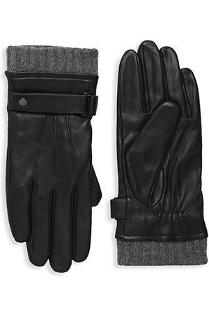 Mackage Reeve Virgin Wool-Lined Leather Gloves