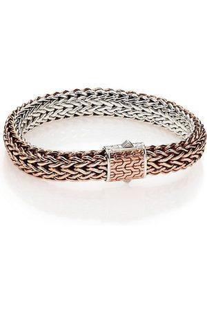 John Hardy Classic Bronze & Silver Reversible Chain Bracelet