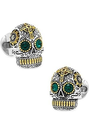 Cufflinks, Inc. Sterling and Gold Tone Day of the Dead Skull Cufflinks