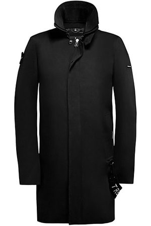 Trench London Men Trench Coats - The Knight Covered Placket Zip-Front Coat