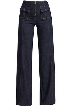 Cinq A Sept Azure High-Rise Wide-Leg Jeans