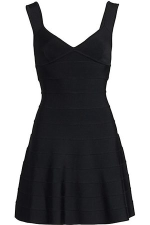 Hervé Léger Icon Fit-And-Flare Dress
