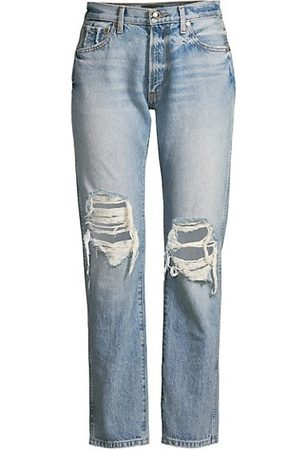 adidas Kyle Relaxed-Fit Distressed Ankle Jeans