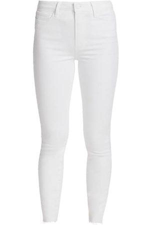 Paige Margot High-Rise Ankle Skinny Raw Hem Jeans