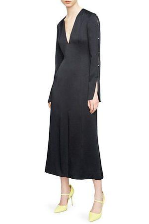 Jason Wu Satin Crepe Midi Dress