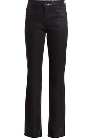 L'Agence Oriana High-Rise Straight-Leg Coated Jeans