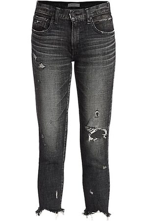Moussy Glendale Distressed Skinny Jeans