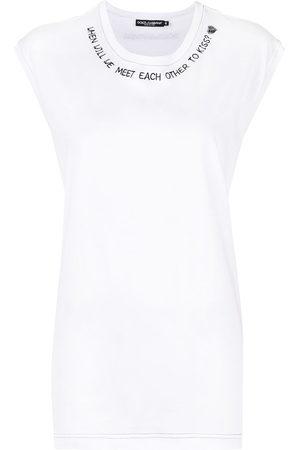 Dolce & Gabbana Slogan-print tank top
