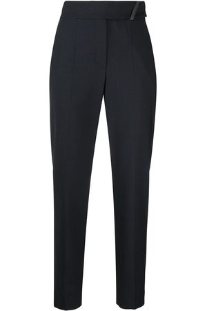 Brunello Cucinelli High-waisted cropped trousers