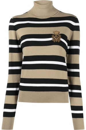 Dolce & Gabbana Logo crest patch knitted jumper