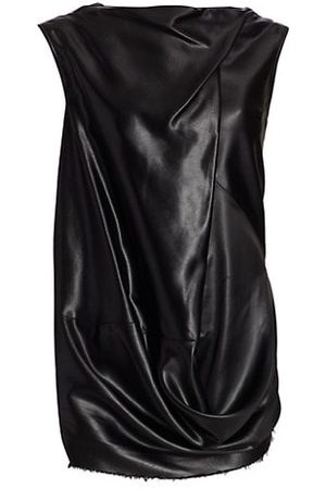 Rick Owens Women Cami Tops - Draped Faux-Leather Top