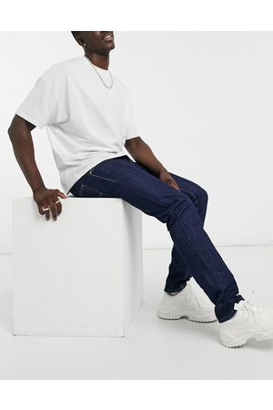 Replay Straight - Grover aged straight fit jeans in dark blue