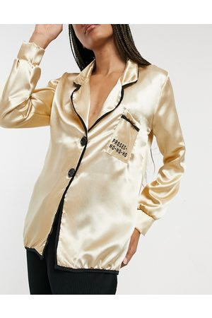 Outrageous Fortune Pyjamas - Satin nightwear top in cream
