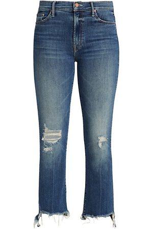 Mother Insider High-Rise Cropped Step-Hem Jeans