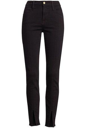 Frame Le High Skinny Front Split Jeans