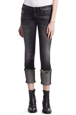 R13 Kate Cuffed Skinny Jeans