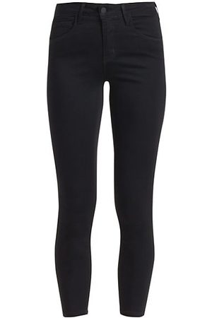 L'Agence Margot Skinny High-Rise Ankle Skinny Coated Jeans